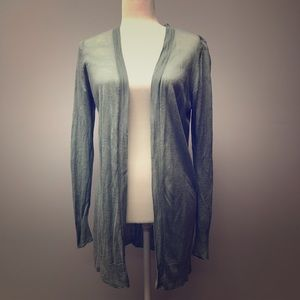 LOFT Green Tunic Cardigan